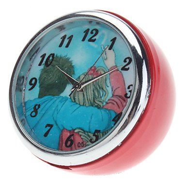 1\u0026quot; Mini Analog Quartz Desktop Clock Red, 1xButton Battery