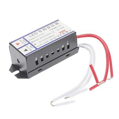Ca 220v a 12v ac 20w led convertidor de voltaje 716254 for Transformador led 12v