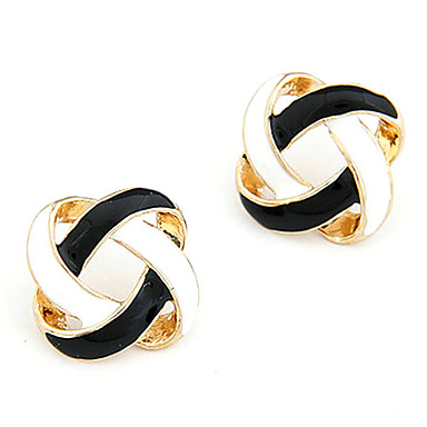 Stud Earrings Alloy Simple Style Golden Jewelry Daily