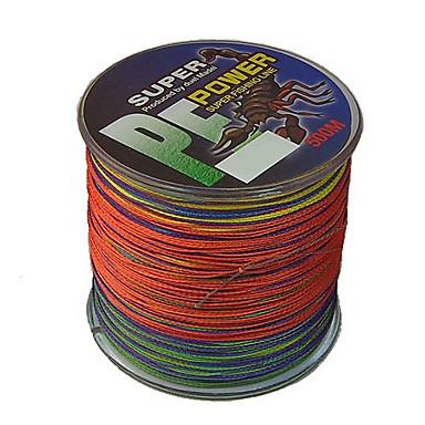 500M / 550 Yards PE Braided Line / Dyneema / Superline Fishing Line Assorted Colors 80LB / 70LB / 100LB 0.4;0.45;0.5 mm ForSea Fishing /