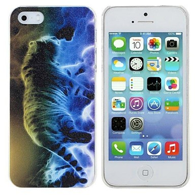 Elonbo Cool The Tiger Image Design Style Hard Back Case Cover for iPhone 5/5S