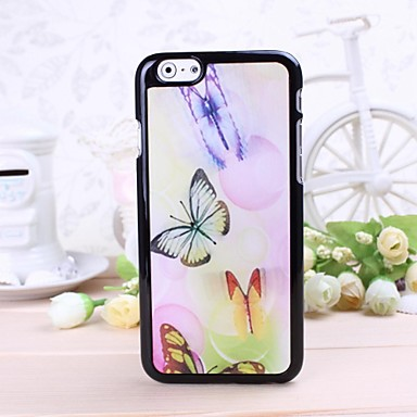 Color papillon mod le en plastique dur cas 3d pour iphone for Cuisine 3d pour iphone