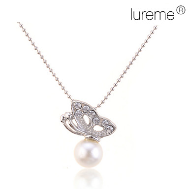 Necklace Pendant Necklaces / Pearl Necklace Jewelry Daily Fashion Pearl / Alloy Silver 1pc Gift