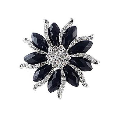 2014 nieuwe aankomst vrouwen dikke zwarte edelsteen bloem. Black Bedroom Furniture Sets. Home Design Ideas
