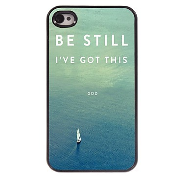 Be Still Design Aluminum Case for iPhone 4/4S 2721688 2017 – $4.99
