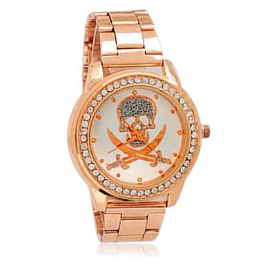 women s rhinestone skull gold cool watches