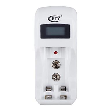 Bty c902 batterijlader voor aa aaa 9v ni mh ni cd batterij met lcd scherm wit eu - Wit scherm ...