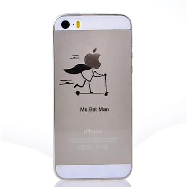 pour coque iphone 5 ultrafine transparente motif coque coque arri re coque jeux avec logo apple. Black Bedroom Furniture Sets. Home Design Ideas