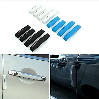 New 4pcs/Set Universal Car Door Styling Bumper Strips EVA Foam Anti-Rub Decorative Strips 3 Colors Mouldings