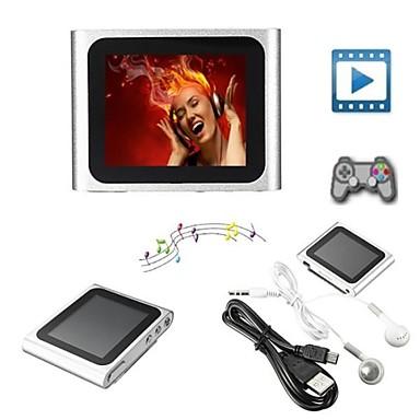 8GB Mp3 Mp4 6th Gen LCD Screen FM Radio Player Slim Video Games Movie