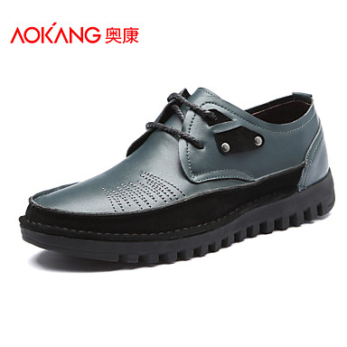 Aokang Men's Shoes Outdoor/Athletic/Casual Suede Fashion Sneakers Black/Brown/Green