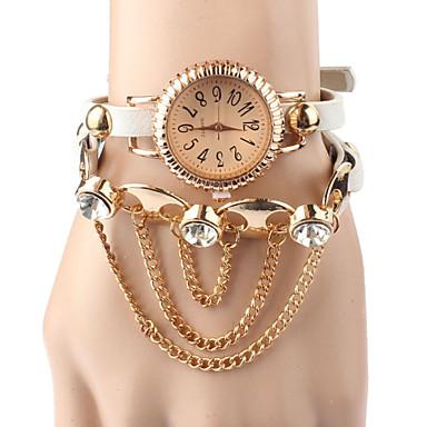 Vintage leather bracelet rivet bracelet quartz wrist watch for Rivets for leather jewelry