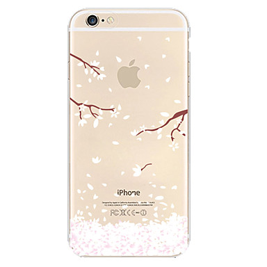 White Plum Pattern TPU Material Soft Phone Case for iPhone 6/6S