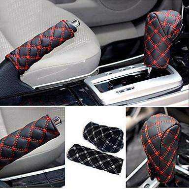 ZIQIAO Hand Brake Case & Gear Shift Case Car Interior Accessory 2PCS/Set