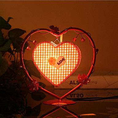 Kreative fersken hjerte lampe soverom nattbordlampe belysning ...