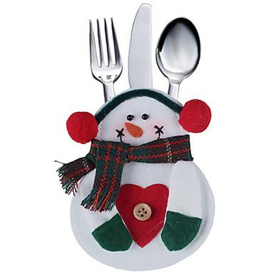 2pcs poche sac cuisine vaisselle de bonhomme de neige fixe for Decoration porte bonhomme de neige