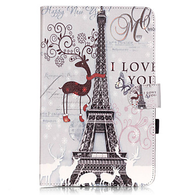 PU Leather Material Tower Paris Pattern Tablet Sleeve Galaxy Tab T550/T560