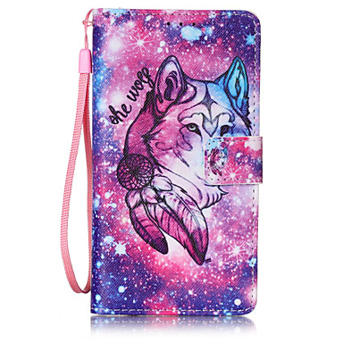 Lone Wolf PU Leather Lanyard phone Case HuaWei P9 lite