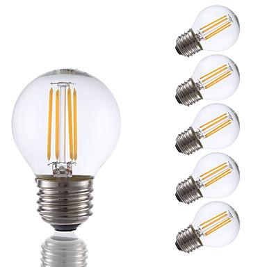 E26/E27 Lampadine LED a incandescenza G16.5 4 COB 350 lm ...