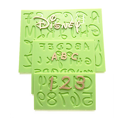 2016 New Cartoon Font Capital Lowercase Letter Number Mold Kitchen Accessories Fondant Silicone