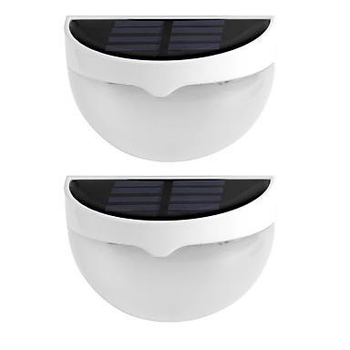 2pcs lumi re solaire ip55 tanche l 39 eau 6 lampes led mur for Eclairage exterieur mur