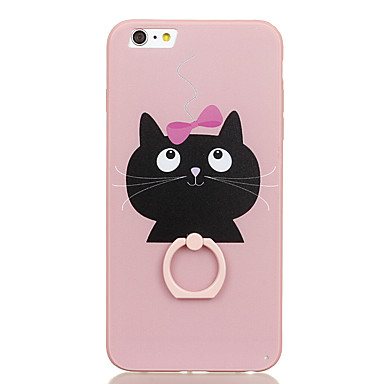 For Ring Holder Pattern Case Back Cover Case Cat Hard PC for Apple iPhone 6s Plus iPhone 6 Plus iPhone 6s iPhone 6