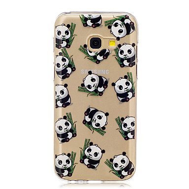 For Samsung A3 A5 (2017) Case Cover Panda Pattern Painted High Penetration TPU Material IMD Process Soft Case Phone Case A3 A5 (2016)