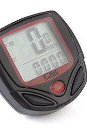 Bike Computer,Digital LCD Cycle Computer Bicycle Speedometer 13 Functions Odometer Speed
