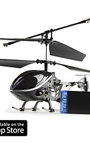 3 canais i-helicóptero 777-170 com giroscópio controlado pelo iPhone / iPad / iPod touch (preto)