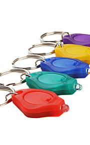 10 milímetros focado cores lanterna LED keychain assorted, 5 unidades