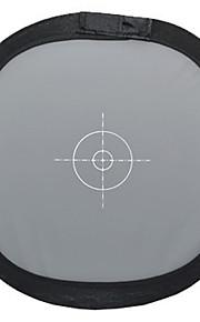 Foco equilíbrio 30 centímetros branco cinza placa cinza placa 18%