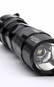Politi 1-LED lommelygte med Håndrem (1xAA, 3W)