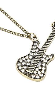 antik kobber guitar zircon halskæde
