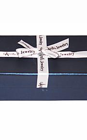 Silk Bowknot Navy Blå smykker Box