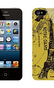 Retro Design Eiffeltornet Mönster Skyddande klistermärke för iPhone 5