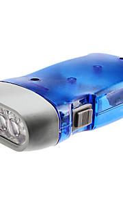 Miljøvenlige 1-Mode 3-LED Dynamo lommelygte