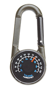 Metal Buckled Compass with Thermometer
