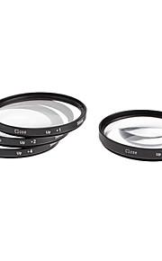 4stk 58mm Close-Up Filter Kit til Kamera med filterpose (+1, +2, +4, +10)