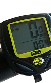 SUNDING Bike Computer, Engineering Plastic Wireless 15 Functions Waterproof Cycling Computer 548C1(Black)