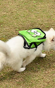 Verde Cartoon Spotted Harness Zaino Pet con custodia