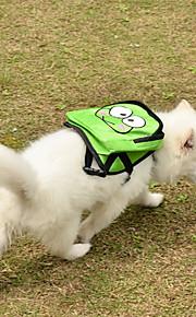 Grønn Cartoon Spotted Pet Ryggsekk Sele med Pouch