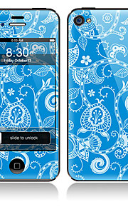 Blue Flower Pattern Front and Back Full Body Skin Stickers for iPhone 5