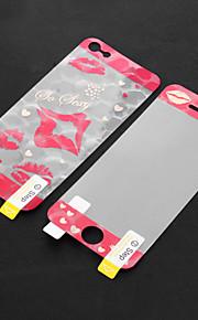 Lip modello anteriore e posteriore Adesivi Protector con panno di pulizia per iPhone 5