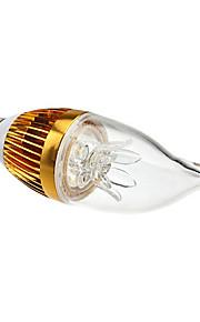 E14 - 3 W- CA - Stearinlys Pærer (Warm White , Dekorativ) 270 lm- AC 85-265