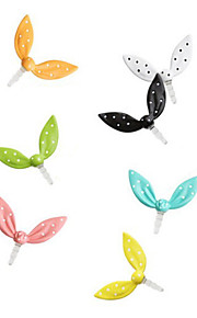 3.5mm Cute Rabbit's Ear Patroon Alloy Anti-stof Plug (verschillende kleuren)
