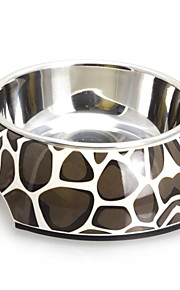 Macadam Pattern Melamin Shell Pet Stainless Steel Food Bowl til hunde Katte (S-XL)