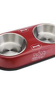 Lovely Style Metal Food Bowl for Cats and Dogs