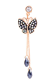 Dot Butterfly Alloy Chain Zircon Anti-støv Plug