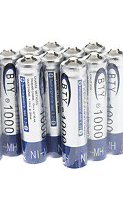 Bty Thuis Ni-MH AAA 1000mAh 1,2 V oplaadbare batterij 12st