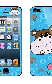 Cartoon Cute Hippo Pattern Body Sticker for iPhone 5